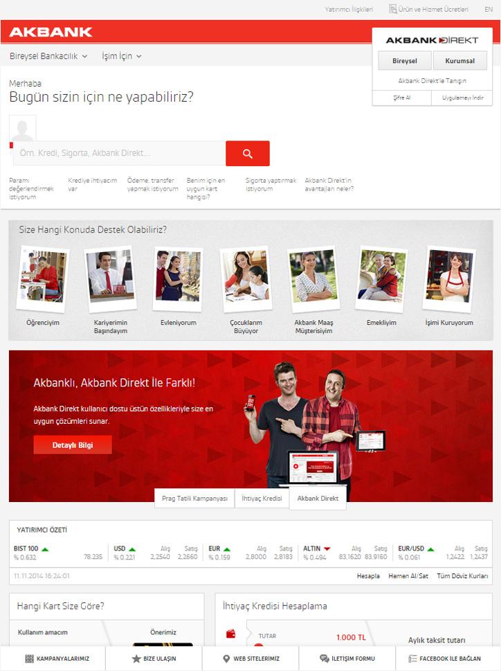 akbank kurumsal web sitesi