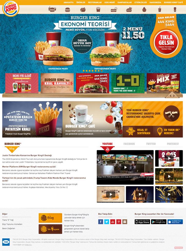 Burger King Türkiye Web Sitesi