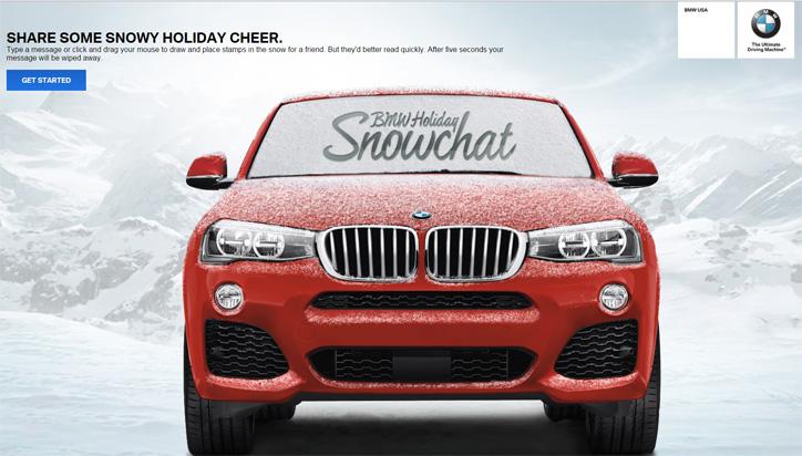 bmw snowchat kampanyası