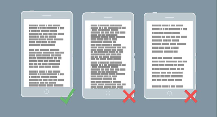 mobil arayüz tasarımları tipografi