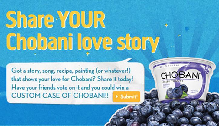 basarılı kullanıcı içerik kampanyaları chobani