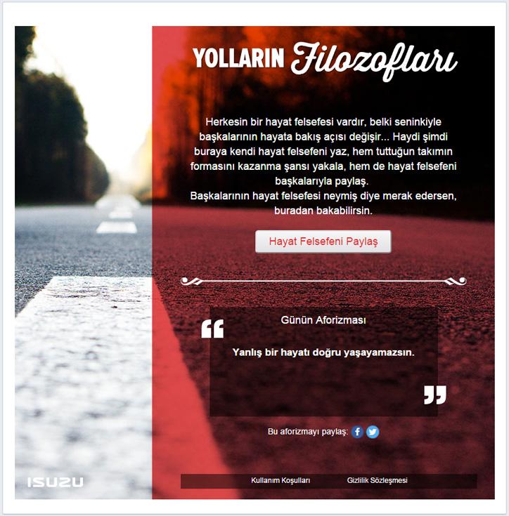 Isuzu Yolların Filozofları Facebook Projesi