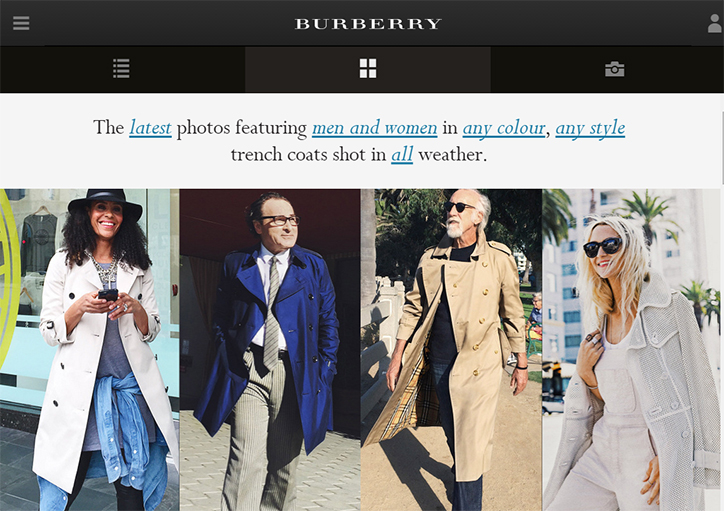 kullanıcı kaynaklı içerik kampanyaları burberry