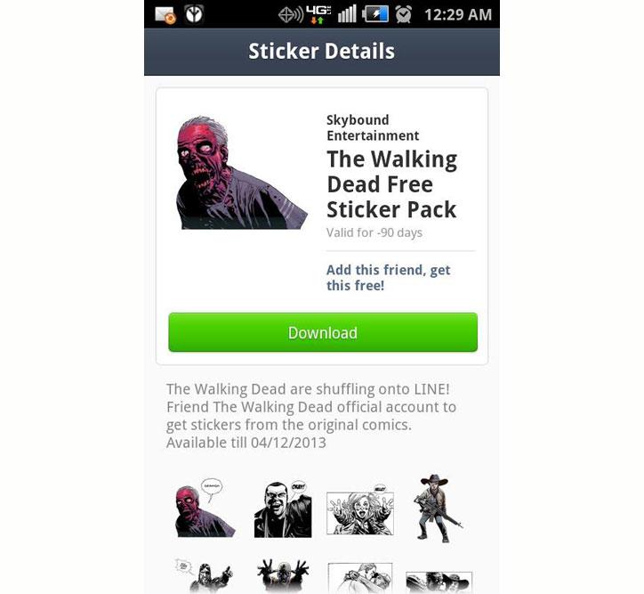 line the walking dead kampanyası