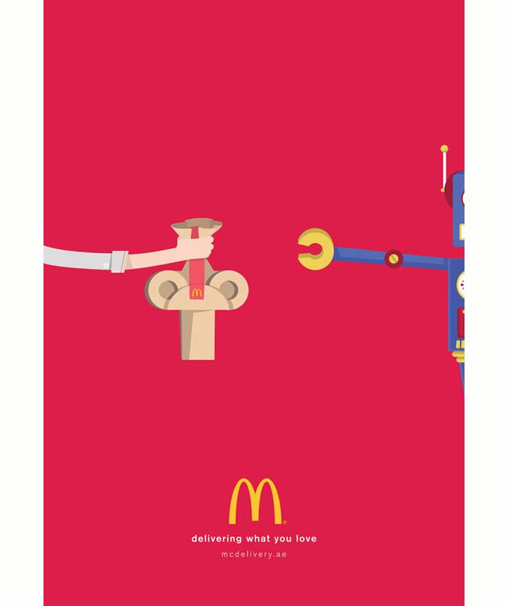 mcdonalds basılı reklamları