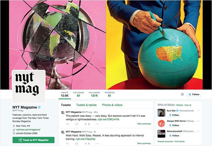 new york times sosyal medya tasarımı