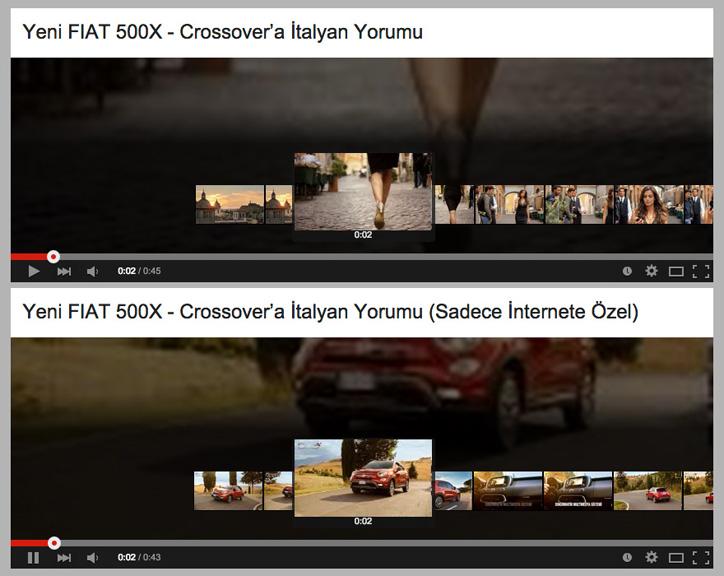 Fiat 500X İnternete Özel Reklam