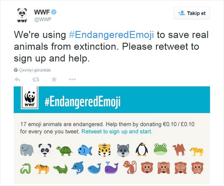wwften emojili bağış kampanyası
