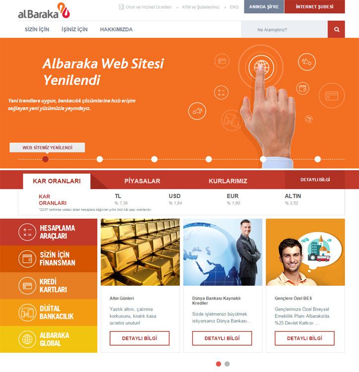Albaraka Türk Yeni Web Sitesi