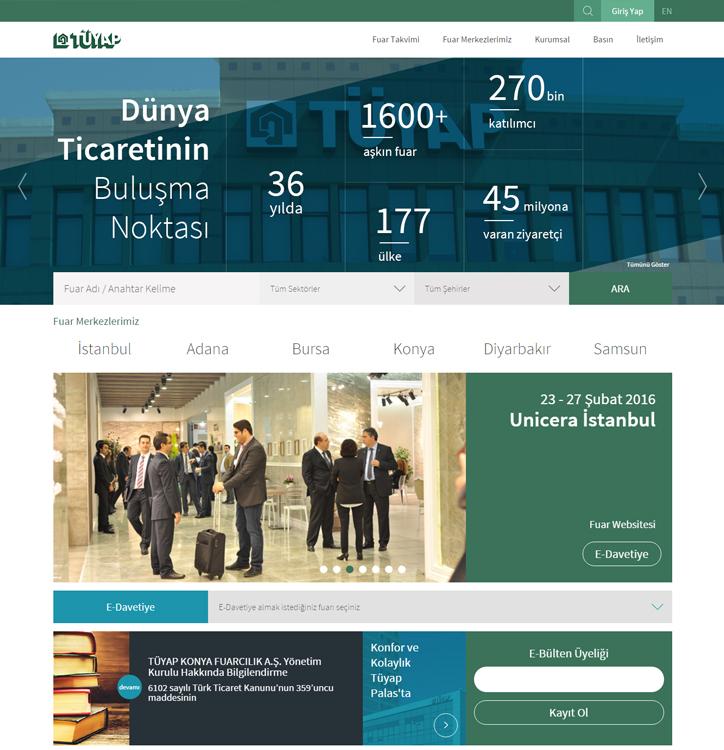 TÜYAP'ın Yeni Kurumsal Web Sitesi