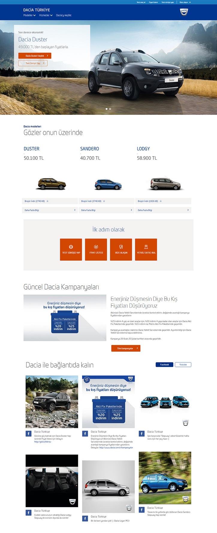 Dacia Yeni Web Sitesi
