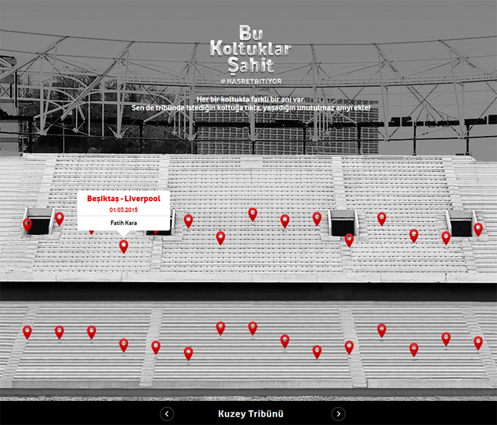 Vodafone Arena Yeni Koltuklarında Tribün Anılarını Koruyor