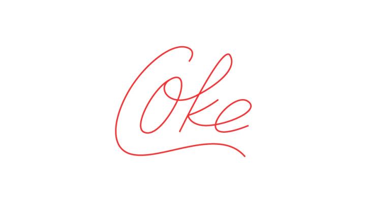 coca-cola minimal logo