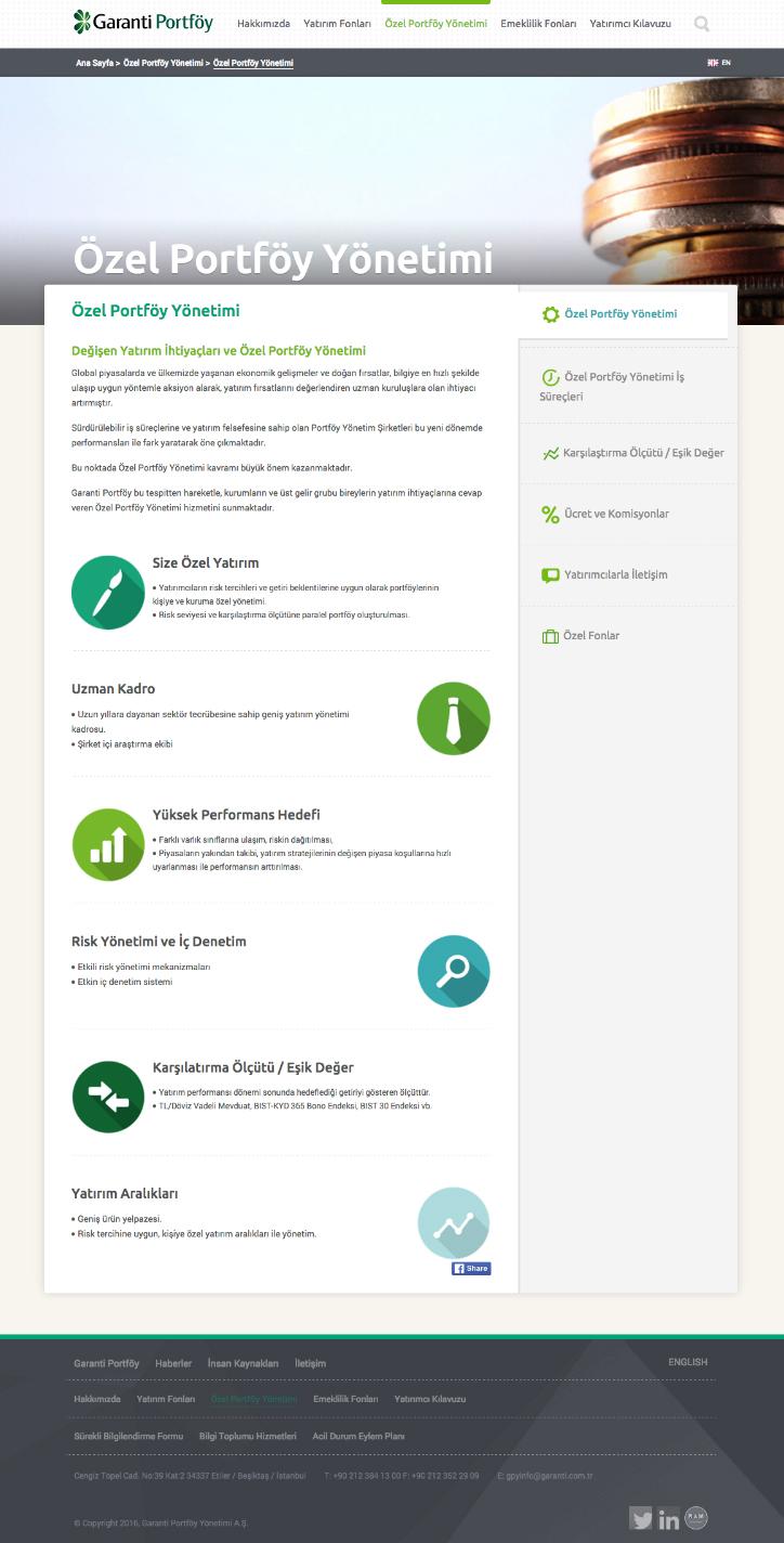 Garanti Portföy Web Sitesi