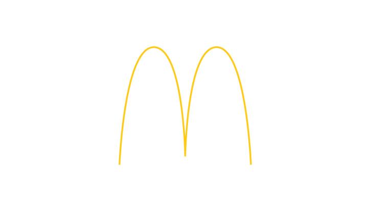 mc donalds minimal logo