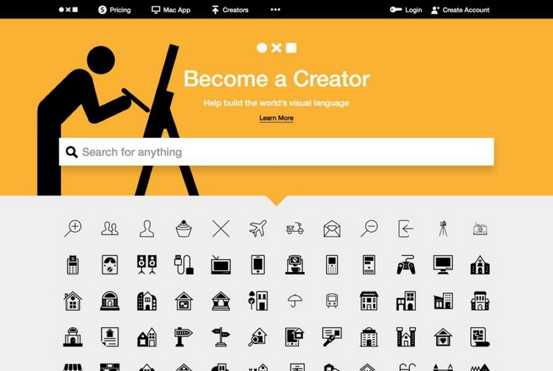 Popüler Görsel Tasarım Araçları 2016 Noun Project