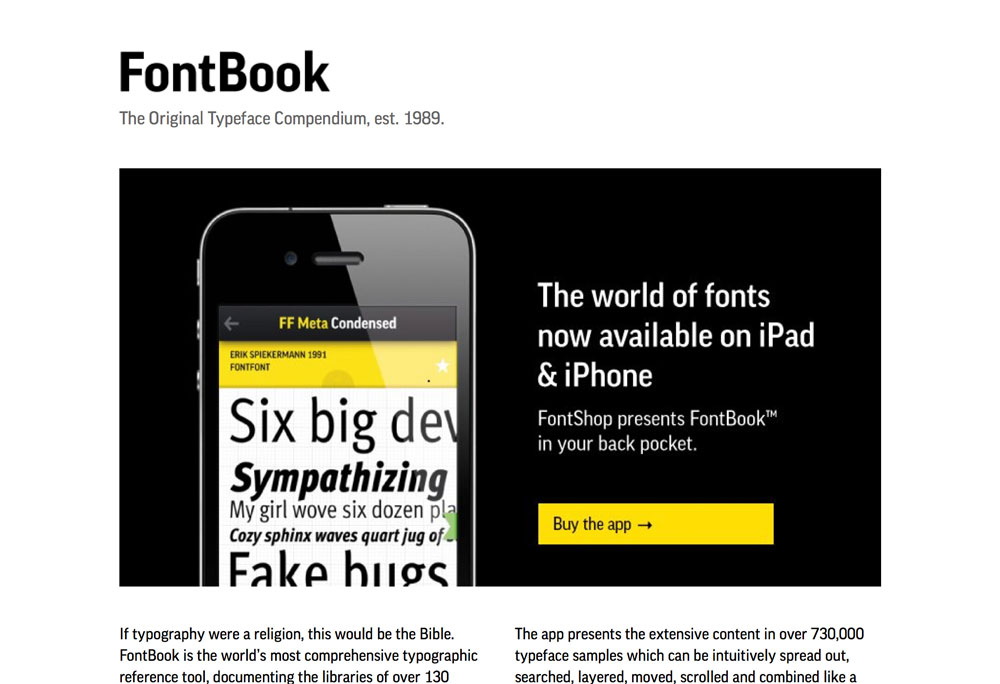 Popüler Görsel Tasarım Araçları 2016 Fontbook