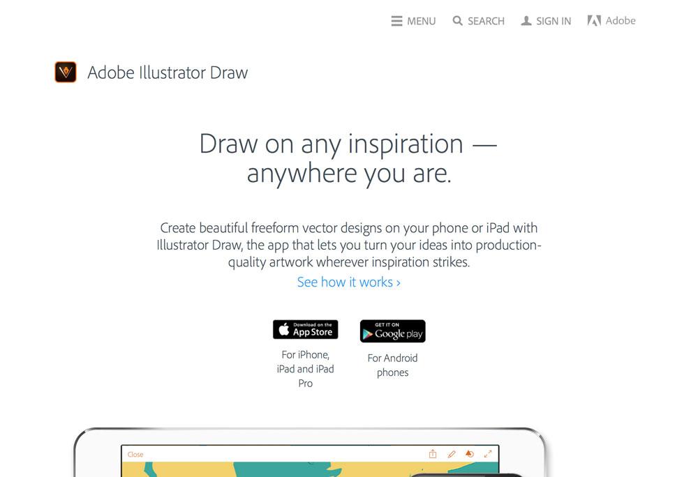 Popüler Görsel Tasarım Araçları 2016 Adobe Illustrator Draw