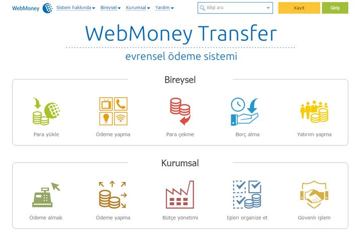 webmoney ödeme sistemi