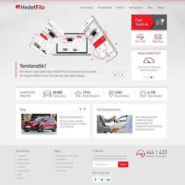 Hedef Filo Kurumsal Web Sitesi