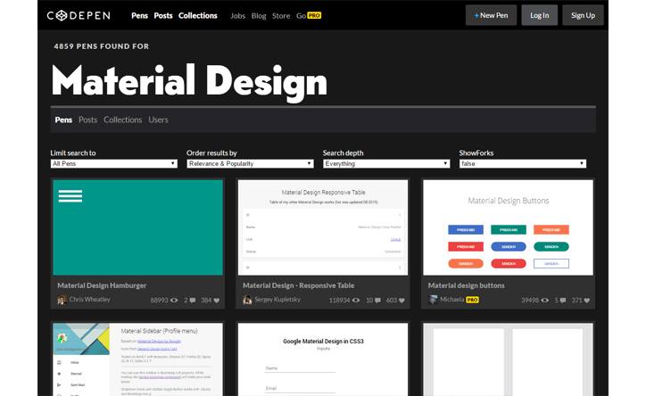 codepen material design