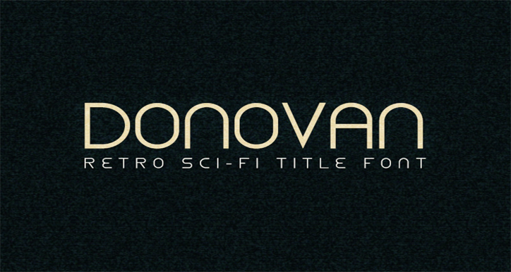donovan yazı fontu