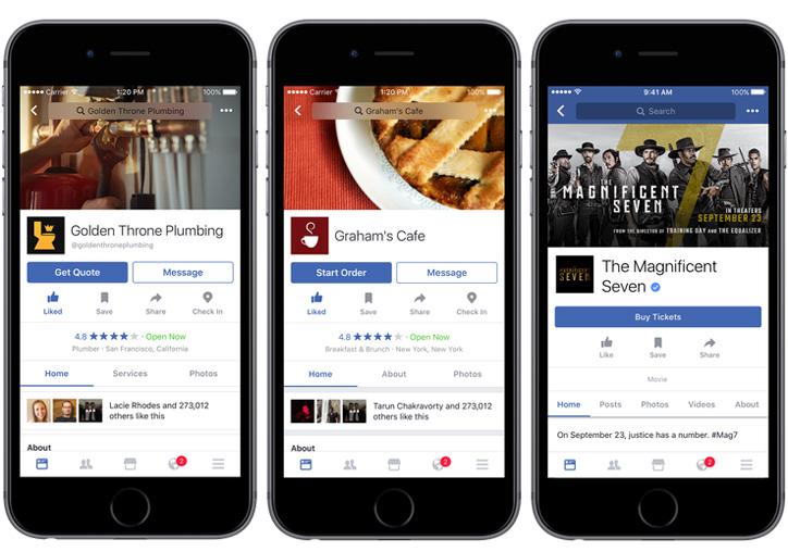 facebook online yemek siparişi