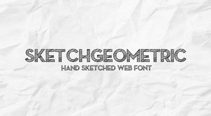 sketch geometric yazı tipi