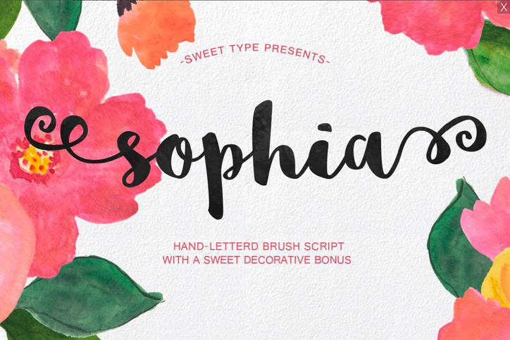 sophia font sosyal medya