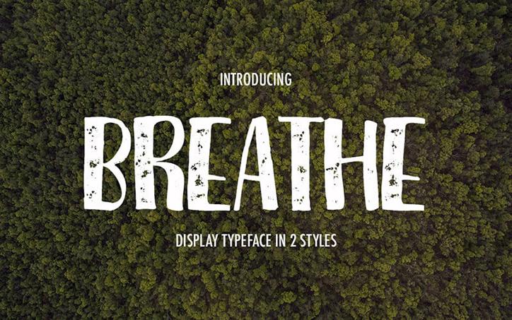 yazı tipleri breathe
