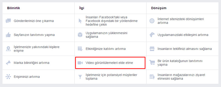 facebook video reklam görüntüleme
